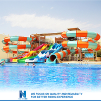 Hot sell Best Price water park fiberglass aqua slides for theme water park wholesale