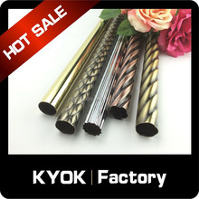 KYOK New Design Wrought Iron Double Twisted Wire Ceiling Curtain Rods/Curtain Poles/Drapery Pipes from Foshan Manufacturing