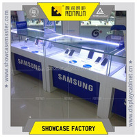 Mobile phone displays case ,shop counter design for elctronic retail store