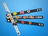Fashion DIY charms bracelets with kinds of soft pvc crocs charms