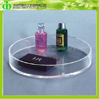 DDY-0020 ISO9001 Chinese Factory Directly Made Large Round Plastic Tray for Perfume