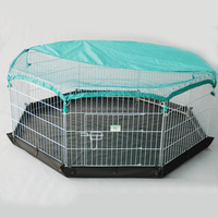Small Pet Playpen Collapsible Puppies Crate Dog Cage Kennel Exercise Fence