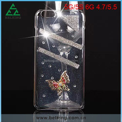 Rugged Clear Case For iPhone 5/5S, for iPhone 5 Hard Plastic Case, Butterfly Case for iPhone 5