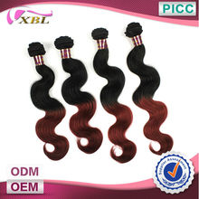 XBL Hot Sale Hair Style Unprocessed Best Quality Body Wave Wholesale 99j Brazilian Hair
