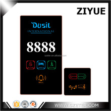 Tempered Glass White Color Hotel Room Service Sign Plate doorbell and DND system