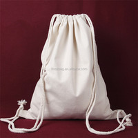 OEM Promotional Plain Cotton Drawstring Bag / 100% Cotton Drawstring Back Sack / Cheap Canvas Drawstring