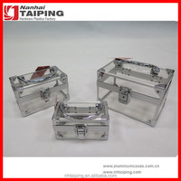 3 In 1 Acrylic Aluminium Portable Cosmetic Makeup Boxes ,Lucite Beauty Cases