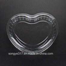 Hot Selling disposable Plastic Heart-shaped Dry Food Fruit Packaging Container Tray