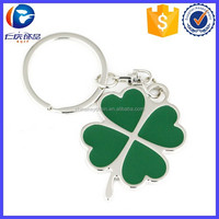 Wholesale Green Four Leaf Clover Shaped Key Tag