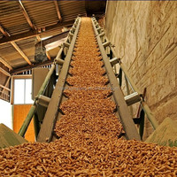 Forestry and logging timber conveyor belt for lumbering and wood industry