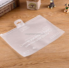 Eco-friendly soft plastic frosted cosmetic eva zipper bag