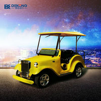 Chinese CE approved 4 person pickup electric car with rubber tires