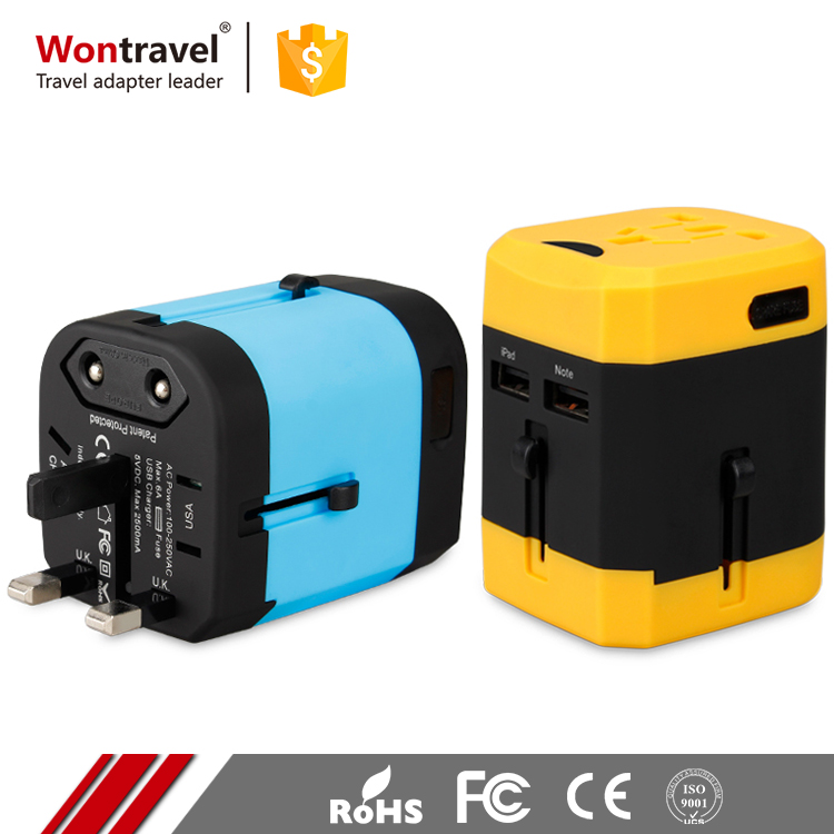 Custom Package Christmas Gift Multi Plug Adaptor Travel Universal Adapter With USB Port
