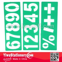 Green plastic Number 0123456789 stencil ruler drawing stencils