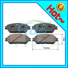 semi-metallic auto parts brake pads for Toyota Solara/Sienna/Lexus ES 04465-33270