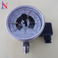 100mm Stainless Steel Electrical Contact Pressure Gauge with Pressure Swift