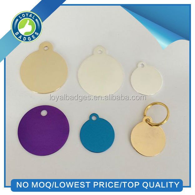 anodized round dog tag blank