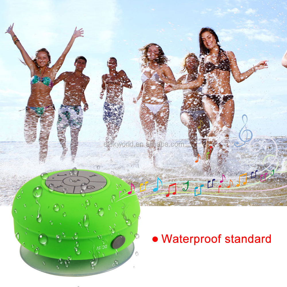 Waterproof Shower Mini Wireless cute design Wireless BT Speaker with Suction Cup support Mic/Calls/Music, w/retail package