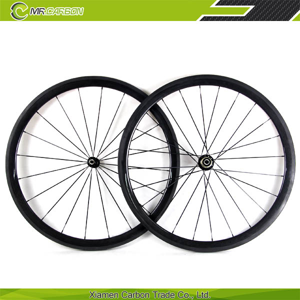 700c 23mm Wide Carbon Wheels 38mm Tubular With Basalt Brake Edge roues velos course