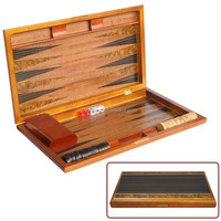 Wooden Backgammon Checker Chess Game Set Custom Backgammon Board
