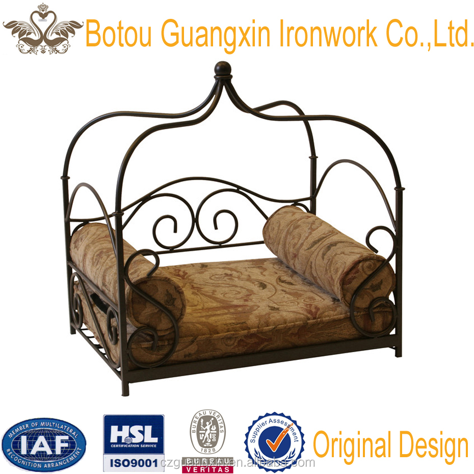 4D Concepts Canopy Pet Bed in Smoked Metal, Smoked Metal Canopy Pet Bed