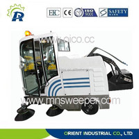 E800LD all-closed vacuum sweeper for outdoor cleaning snow sweeping vehicle industrial electric sweeper