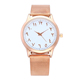 2018 Hot Selling Rose Gold Arabic Numbers Watches Romantic Women Quartz Watch Stainless Steer Waterproof Steel Mesh Wristwatch