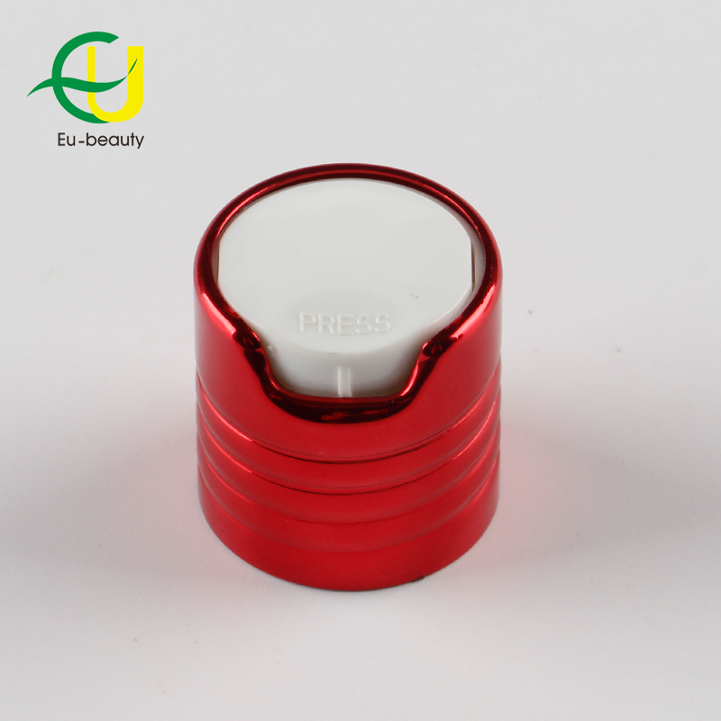 24/410 aluminum screw disc top cap aluminum cap plastic disc top cap