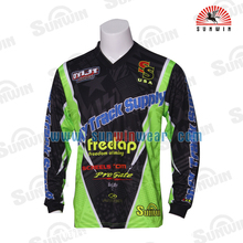 Custom Made Long Sleeve Motorcycle Jersey Sublimated Cheap Motocross Shirt BMX Jersey