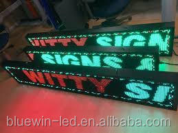 Yellow LED Rechargeable 300mm Programmable LED Scrolling Message Display Moving Sign Board LED shop screen 16x64 Dots