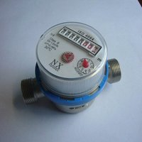 Dry single jet hot/cold water meter