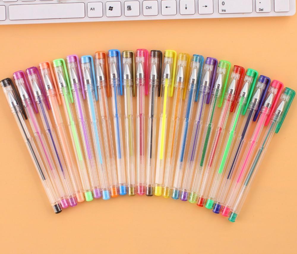 8 color glitter gel pen sets