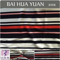 2016 Winter Dress Fabric 63%R 34%T 3%SP Knitted Ottoman Rib Fabric Engineering Yarn dyed Stripe