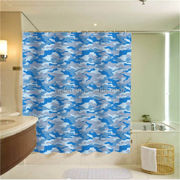 China supplier waterproof ruffle shower curtain