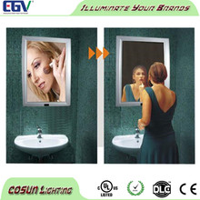 Top sale Led Advertising magic mirror light box with sensor