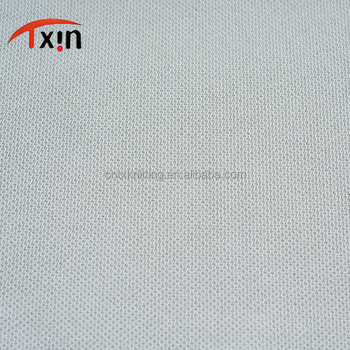 sports fabric samples polyester tricot knitted fabric for polo shirt and sport t shirt material