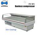 Commercial Open Counter Top Serve Over Used Deli Fish Cold Food Fresh Meat Display Refrigerator Showcase Cooler Chiller Cabinet