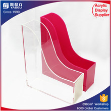 acrylic holder/acrylic file storage/acrylic magazine rack