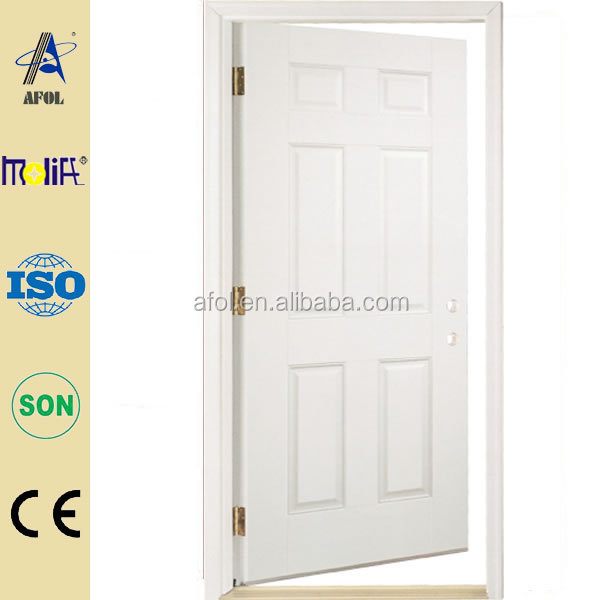 Low price high quality residential steel entry doors, white door from AFOL