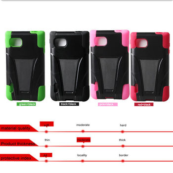 silicone + pc case with stand for LG VS890 Enact LG FX3