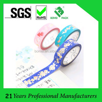 Decorative masking adhesive paper tape for scrapbooking