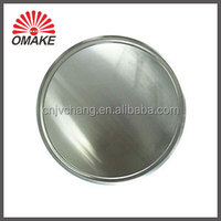 Economical Customized 6''-20'' Aluminum Pizza Serving Pan with Wide Rim, High Edge Shallow Pizza Plate