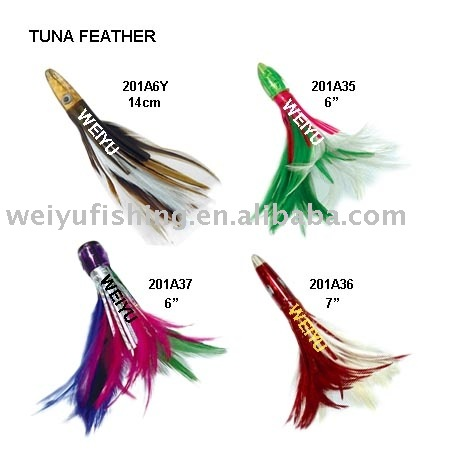 factory direct wholesale Fishing lure Tuna feather bullet head fishing tackle OEM lure