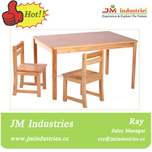 e1 standard wooden table chair set for kids