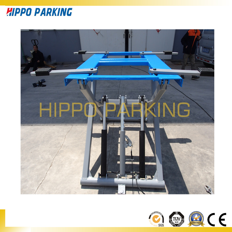 Smart scissor car lift for sedan repair
