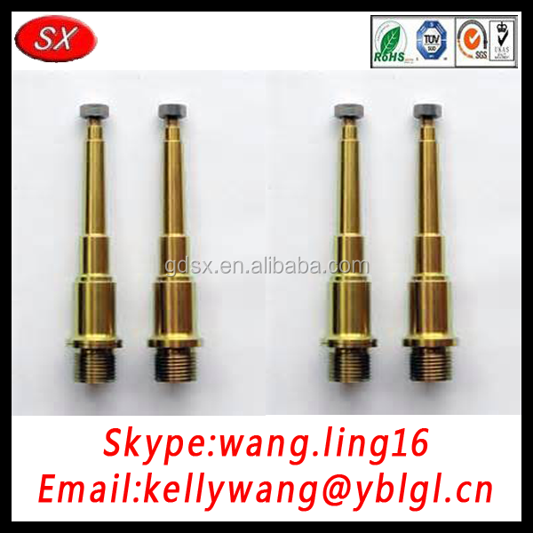 China customized bicycle pedal shaft, metal drive shaft with RoHS