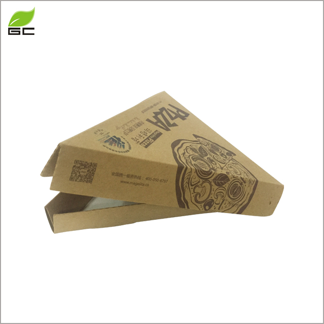 Alibaba China Manufacturer Customized Recyclable Paper Pizza Slice Triangle Box Food Container In Pizza Shop