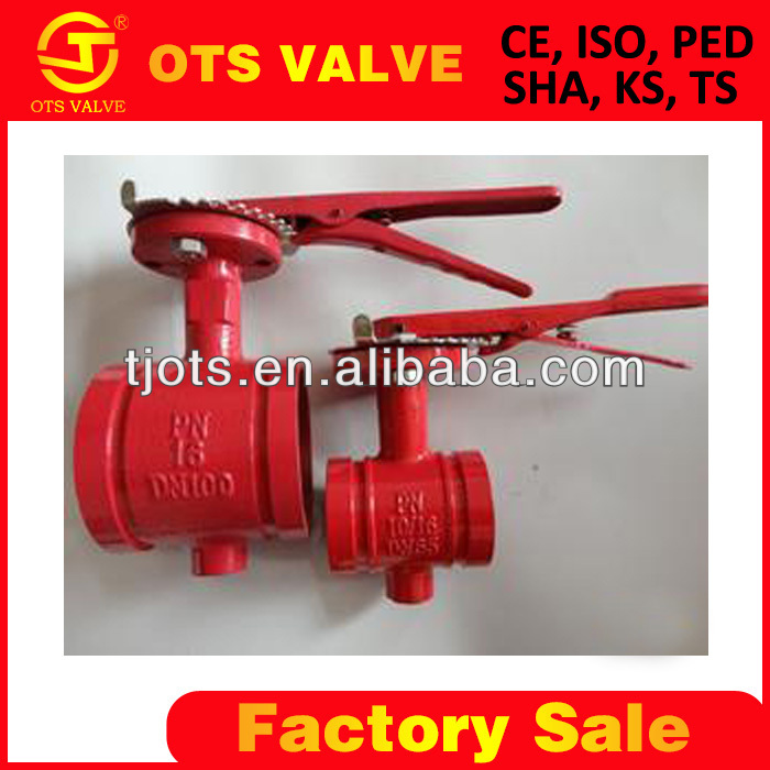 BV-SY-358 Groove Type Clamped Butterfly Valve fire hydrant