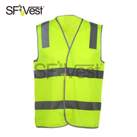 china supply custom high visibility reflective safety vest for D/N use airport roadway construction security workwear waistcoat
