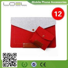Woolen Felt Carry Sleeve Bag Laptop Messenger Case Cover Skin for MacBook Air Pro B022522(3)